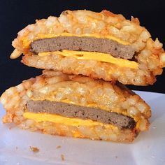 French Fry Burger Bomb Ushers in the Next Generation of Obesity -  #burgers #food #foodporn