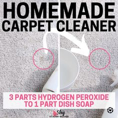 Cleaning Hacks, DIY Projects, And Organization for moms on a budget. I love refreshing spaces in our home and organizaing them on a dime! Homemade Carpet Shampoo, Homemade Carpet Stain Remover, Stain Remover Carpet, Stain Removers, Homemade Floor Cleaners, Diy Floor Cleaner, Diy Cleaners, Household Cleaners, Household Tips