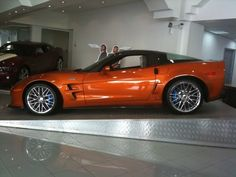 Atomic Orange Corvette ZR1.