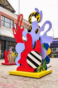Seaport District Sea Sculptures on Behance Sea Sculpture, Cardboard Sculpture, Abstract Sculpture, Pop Art, Instalation Art, Ecole Art, Environmental Graphics, Display Design, Art Object