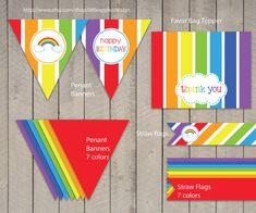 Rainbow Birthday Package / Rainbow Birthday Pack / by DreamyDuck