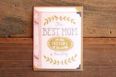 Best Mom Book Card