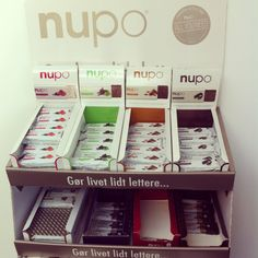 Nupo's employees own lunch and snack display :-) Find our different products on: http://nupo.com