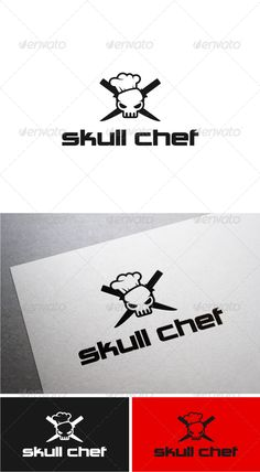 Skull Chef Logo Template #GraphicRiver Resizable Ai, Vector Eps You can download the font at : .dafont /charlie-brown-m54.font Created: 5June13 GraphicsFilesIncluded: VectorEPS #AIIllustrator Layered: No MinimumAdobeCSVersion: CS Resolution: Resizable Tags: chef #cool #flat #koki #simple #skull #vector