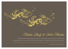 wedding invitations - One Fish Two Fish by Susan Schneider