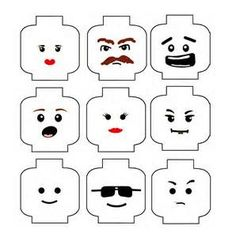 Free printable Lego heads