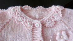 Crochet Kids Hats, Crochet Baby Booties, Knitting For Kids, Baby Knitting, Knit Crochet, Heirloom Sewing, Baby Cardigan, Crochet Blanket Patterns, Amelie