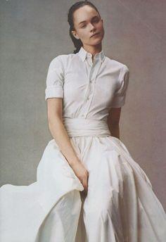 corila herrera white shirt and skirts | ... : {summer outfit inspiration : a crisp shirt & floor-grazing skirt