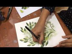 One stroke painting; flower basket composition - YouTube