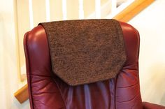 Charmant Recliner Chair Headrest Cover Large Chocolate Brown By ChairFlair
