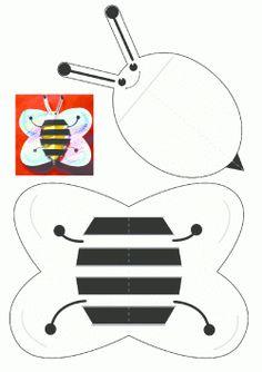 Arı Kalıbı. Bee printables. Molde del abeja. пчела.