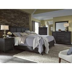 online shopping for Magnussen Mill River Queen Panel Bed Weathered Charcoal from top store. See new offer for Magnussen Mill River Queen Panel Bed Weathered Charcoal Master Bedroom Set, King Bedroom Sets, Queen Bedroom, Dream Bedroom, Master Suite, Bedroom Furniture, Home Furniture, Bedroom Decor, Bedroom Ideas