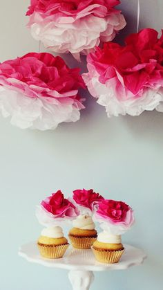 DIY Ombre Poms from Icing Designs