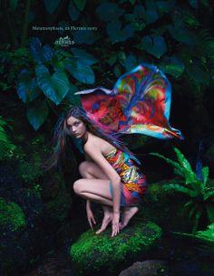 Metamorphosis, an Hermès story. Silk twill scarves. Hermès 2014 spring-summer campaign. #hermes #silk