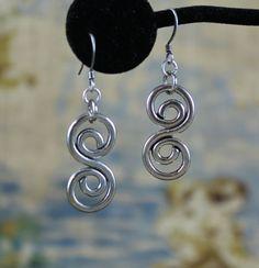 Celtic silver swirl earrings by KLFStudio on Etsy