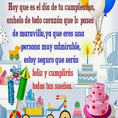 Lindas Tarjetas de Cumpleaños Para Compartir, Muchas Imágenes Postales de Feliz Cumpleaños para Descargar y Enviar con Cariño y Amor. Happy Birthday Emoji, Happy Birthday Wishes Cards, Birthday Blessings, Happy Birthday Pictures, Birthday Greetings, Jelsa, Birthdays, Baby Shower, Lily