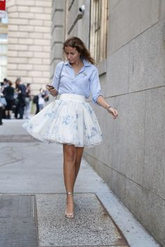 Pastel Floral Tulle Skirt - Total Street Style Looks And Fashion Outfit Ideas Look Fashion, Fashion Beauty, Womens Fashion, Trendy Fashion, Pastel Fashion, Fashion 2015, Fashion Spring, Ladies Fashion, Fashion Styles