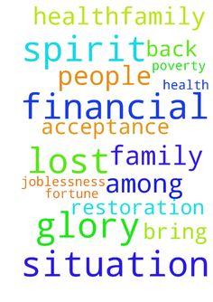 Prayer for my financial situation and and health,family - Prayer for my financial situation and and health,family and spirit of acceptance among people. Spirit of poverty and joblessness. Restoration of lost fortune and glory. Prayer to bring back lost glory Posted at: https://prayerrequest.com/t/NS8 #pray #prayer #request #prayerrequest