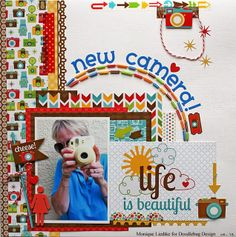 #papercraft #scrapbook #layout    Doodlebug Design Inc Blog: PIXIES: Beaded Accents on a Layout by Monique