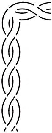 Prikrývka stencil kábel Border 1½