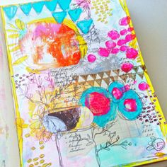 """I consider any addition to my journal page a """"layer."""" I am not sure how  others define it, when it comes to their art, but for me the entire process  of adding to a piece is a layering effect. I love to watch the page build  upon itself, until finishing with acolorful, texturizedart page. This  week I am sharing a quick video on my stop and start process. Watch as I  build layers on the fly and then give me a high five if you love layering!    Here are some of the layers I used i..."""