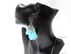 Boho Tassel Earrings Bali Silver Tassel Earring Bohemian