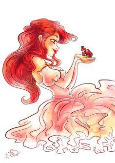 Day 12 - Ariel by Nohongo.deviantart.com on @DeviantArt - Part of a Disney-themed Advent Calendar