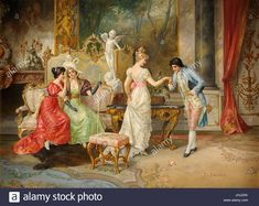 Persoglia, Franz von Man Bowing a Greeting Victorian Paintings, Victorian Art, Classic Paintings, Paintings I Love, Decoupage, Baroque Painting, Traditional Paintings, Classical Art, Old Art
