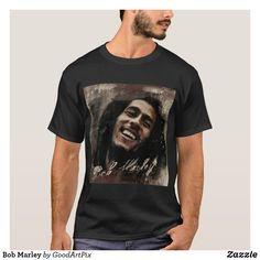 Bob Marley T Shirts, Dark Colors, Tshirt Colors, Fitness Models, Unisex, Casual, Sleeves, Mens Tops, Cotton