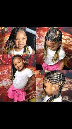 Skin care Natural hairstyles teenager, Natural h. Little Girl Hairdos, Little Girl Braids, Black Girl Braids, Braids For Kids, Girls Braids, Kid Braids, Long Braids, Black Kids Hairstyles, Teenage Hairstyles