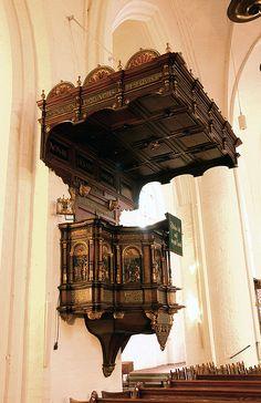 Flensburg, Schleswig-Holstein, Marienkirche, pulpit