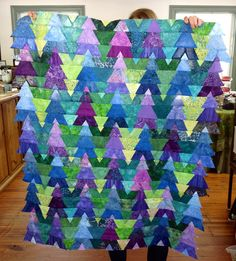 "Janet C made this enchanted forest quilt from the pattern in Jinny's book ""Christmas with Jinny Beyer"""