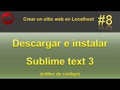 Descargar e instalar sublime text 3 gratis. Vídeo #8