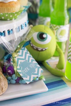 Favors at a Monsters Inc Party #monstersinc #partyfavors