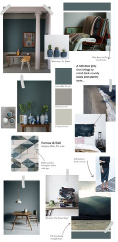 Farrow & Ball collage - Inchyra Blue Top ideas on how to use this stunning colour. Farrow And Ball Inchyra Blue, Up House, Sweet Home, Kitchen Paint, Design Kitchen, Kitchen Ideas, Blue Bedroom, Farrow Ball, Colorful Interiors