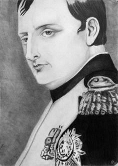 Napoleon Bonaparte pencil portrait regency