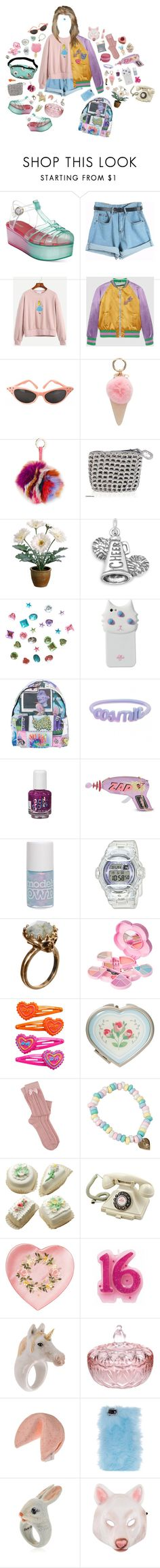 """""""Bored with myself"""" by queenofrocknroll ❤ liked on Polyvore featuring Wanted, Chicnova Fashion, Gucci, Iphoria, Jocelyn, NOVICA, Gerber, BillyTheTree, Valfré and Jeremy Scott"""