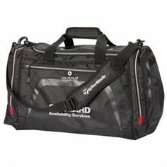 """Taylormade Performance Weekender Tote - Features abrasion resistant wear panels. Dual end pockets. Dual side pockets. Ergonomic shoulder strap. 19"""" x 11"""" x 11"""""""