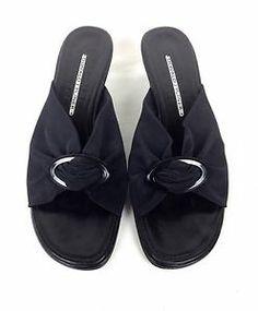 Donald J Pliner Shoes Leather Mesh Black Kitten Heels Open Toe Heels Spring 8 M | eBay