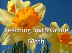 Here are all types of resources for teaching every concept of every standard of the Common Core for sixth grade math!