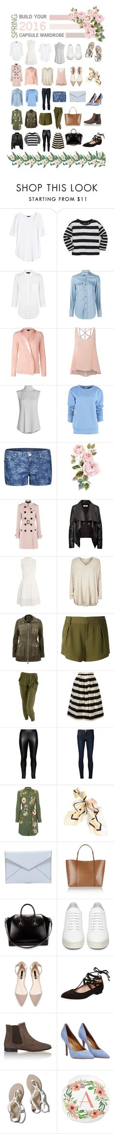 """Build Your Spring Capsule Wardrobe - 2016"" by theabstractlife ❤ liked on Polyvore featuring H&M, Ralph Lauren, Jaeger, Yves Saint Laurent, ESCADA, Glamorous, NIC+ZOE, By Sun, Dex and Burberry"