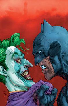 Batman and the Joker by Jim Lee 2018 Joker Batman, Comic Del Joker, Jim Lee Batman, Batman Dark, Joker Art, Gotham Batman, Batman Robin, Joker Drawings, Batman Drawing
