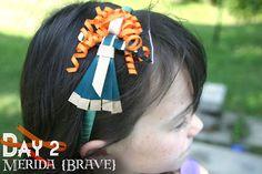 Grosgrain: Disney Inspired Princess Ribbon Sculpture Day 2: Merida {BRAVE}