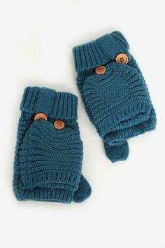 Knit Harper Mittens in Teal $16