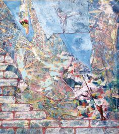 Claudio Spanti - Songes du colleur d'affiches - Acrylique sur toile - cm 68x60 - 2012