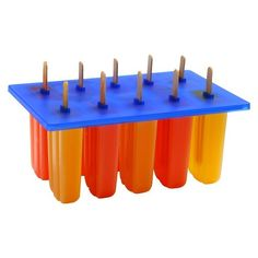 Norpro Frozen Ice Pop Maker with 24 Wooden Sticks. Frozen custom-made treats for everyone! The combinations are endless! Also includes 24 standard size, disposable, wooden treat sticks. Popsicle Molds, Popsicle Recipes, Popsicle Sticks, Ice Pop Maker, Pop Sicle, Yogurt Popsicles, Homemade Popsicles, Homemade Ice, Healthy Popsicles