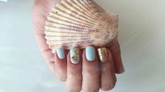 In love with this color #baby blue#sea#summer#gold