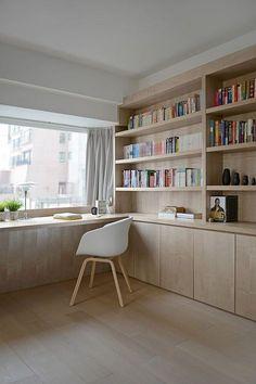 Minimalist workspace in wood ..., #minimalist #Wood #workspace, Interior design #trends #trend #women