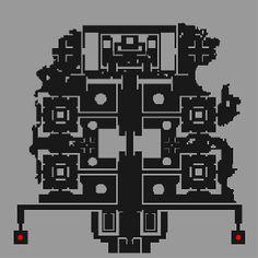 アユタヤダンジョン 02(古代遺跡内部) 何の図か説明を知らないほうがかっこよく感じる、密度の緩急がとてもいいビジュアル。
