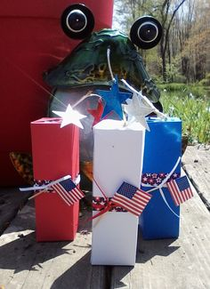 Firecracker treat boxes for 4th of July, made with my Sizzix's Big Shot.